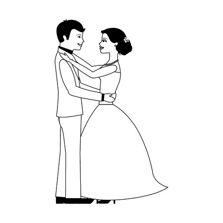 married couple avatar character vector illustration design Фото со стока - 103798056