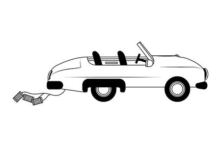Diseño clásico del ejemplo del vector del icono aislado del coche de la boda Ilustración de vector