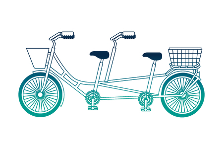 retro tandem bicycle icon vector illustration design