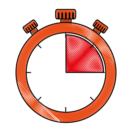 timer chronometer isolated icon vector illustration design Banque d'images - 103798335