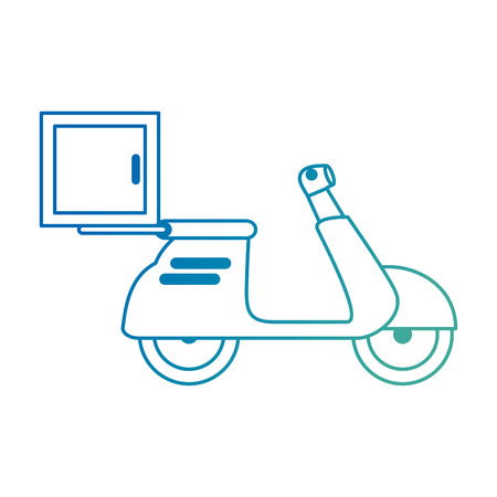 delivery service motorcycle icon vector illustration design