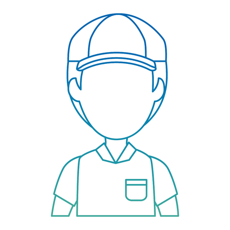 delivery worker avatar character vector illustration design