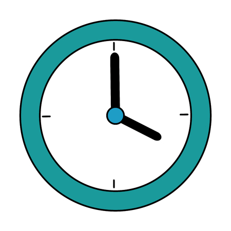 time clock isolated icon vector illustration design Ilustrace