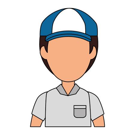 delivery worker avatar character vector illustration design Foto de archivo - 104181832