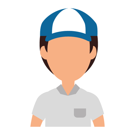 delivery worker avatar character vector illustration design Foto de archivo - 104181919