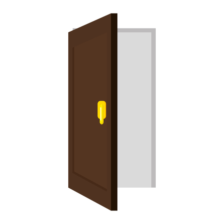 door open isolated icon vector illustration design  イラスト・ベクター素材