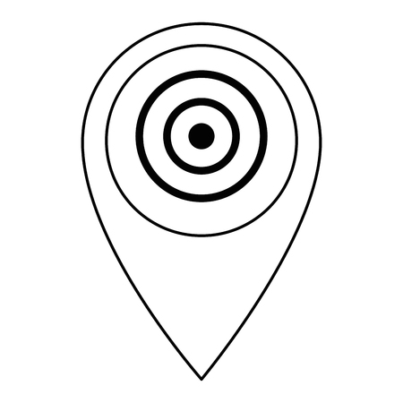 pin pointer location with target vector illustration design Archivio Fotografico - 104182100