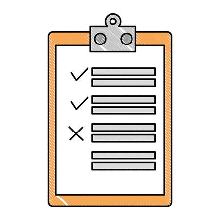 clipboard checklist isolated icon vector illustration design