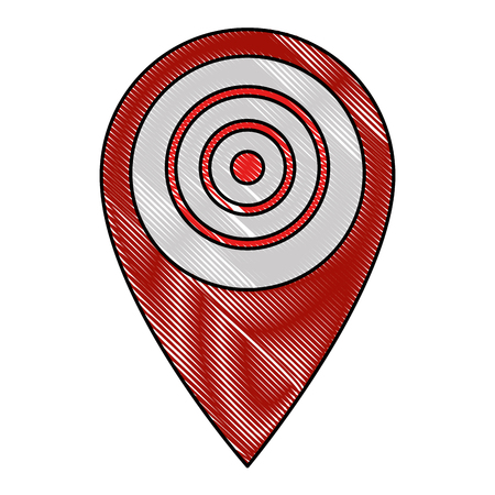 pin pointer location with target vector illustration design