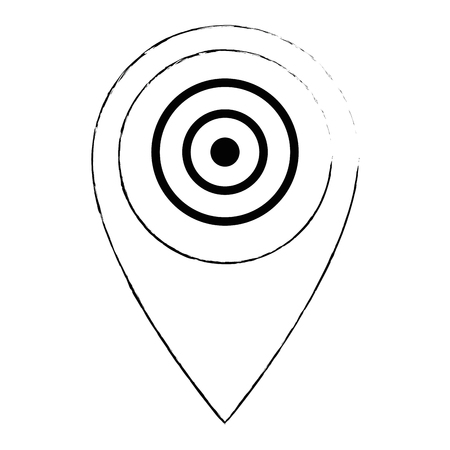 pin pointer location with target vector illustration design Archivio Fotografico - 103719025