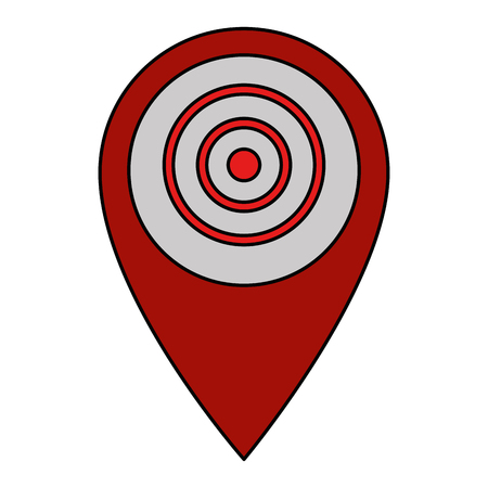pin pointer location with target vector illustration design Archivio Fotografico - 103719204