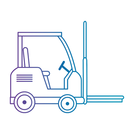 forklift vehicle isolated icon vector illustration design Banque d'images - 103719313