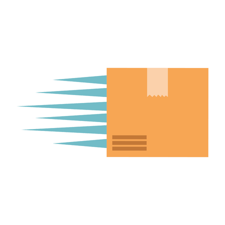 packing box carton with speed lines vector illustration design