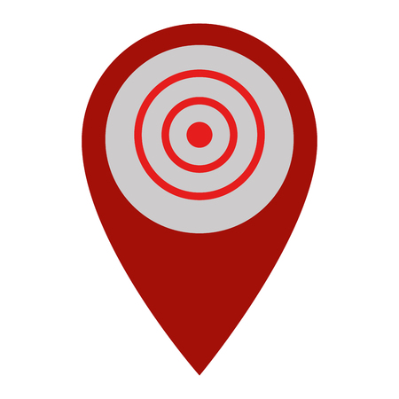 pin pointer location with target vector illustration design Archivio Fotografico - 103719442