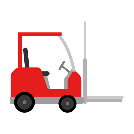 forklift vehicle isolated icon vector illustration design Banque d'images - 103719444