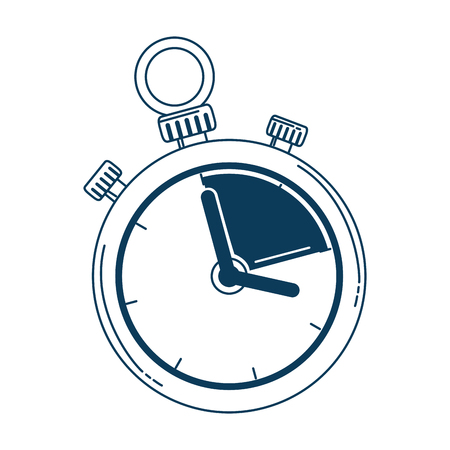 timer chronometer isolated icon vector illustration design Banque d'images - 103719663
