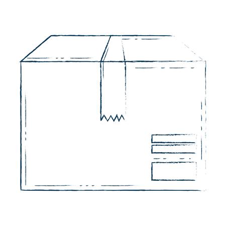 packing box carton icon vector illustration design