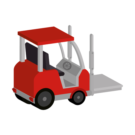 forklift vehicle isolated icon vector illustration design Illustration