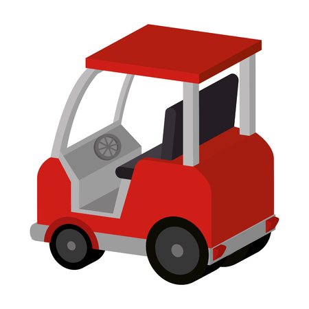 forklift vehicle isolated icon vector illustration design  イラスト・ベクター素材