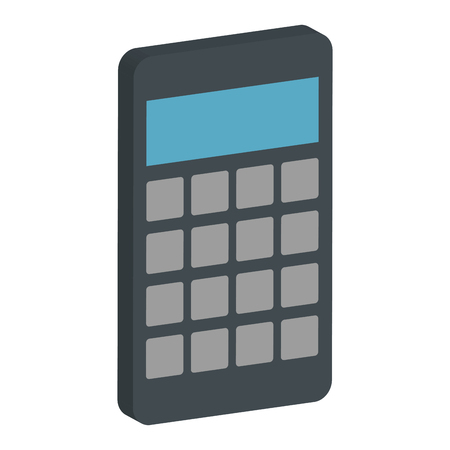 calculator math device icon vector illustration design