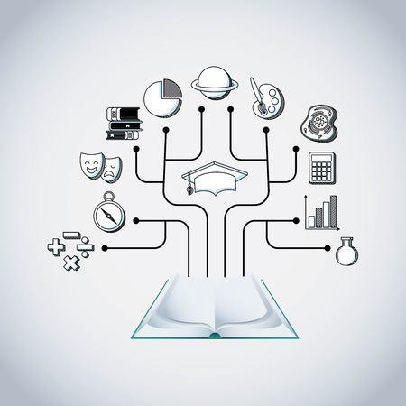 infographic education presentation icons vector illustration design 일러스트