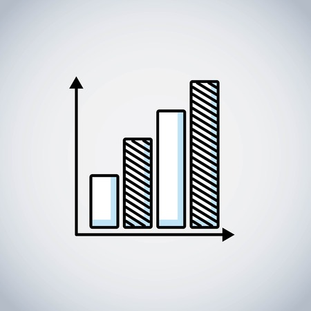 bars statistics line icon vector illustration design