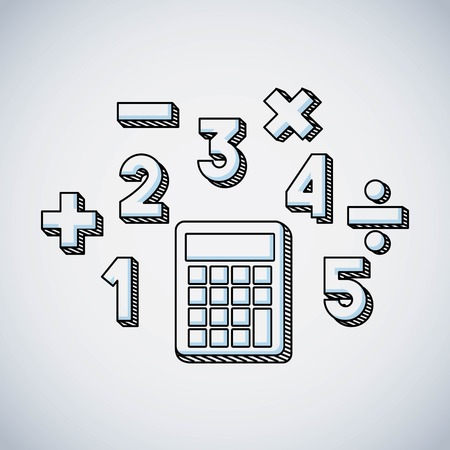 calculator math education line icon vector illustration design Illustration
