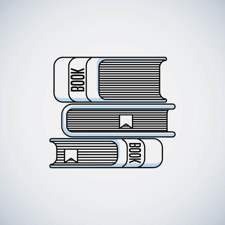 books education line icon vector illustration design