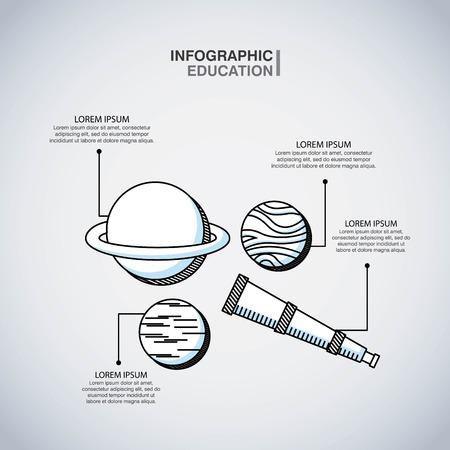 infographic education presentation icons vector illustration design Ilustração