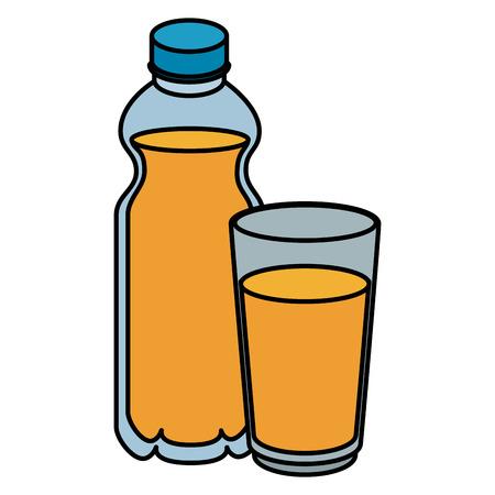 fresh beverages isolated icons vector illustration design Illusztráció