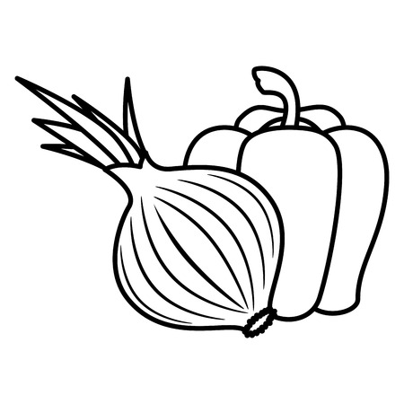 fresh and healthy vegetables vector illustration design 일러스트