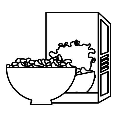 cereal dish with box vector illustration design Illustration
