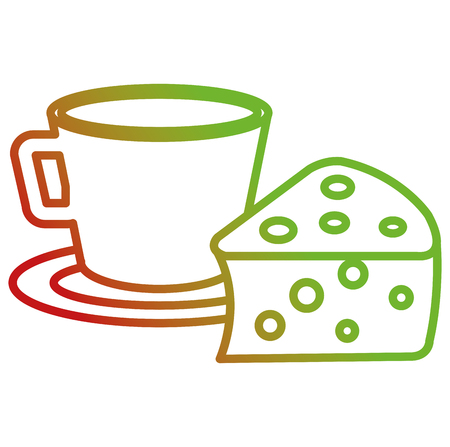 coffee cup with pastry product vector illustration design