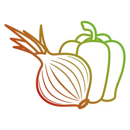 fresh and healthy vegetables vector illustration design Illusztráció