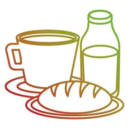 Taza de café con diseño de ilustración de vector de producto de pastelería Foto de archivo - 104045881