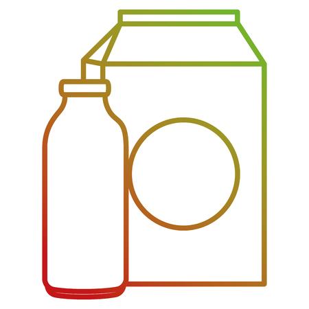 milk bottle and box vector illustration design Illustration