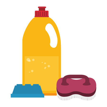laundry and housekeeping products vector illustration design  イラスト・ベクター素材
