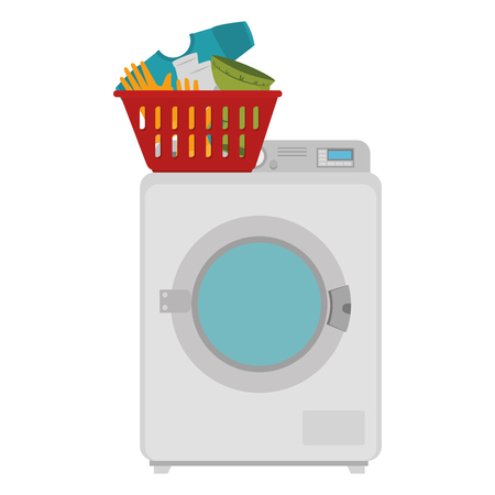 wash machine laundry service vector illustration design Çizim
