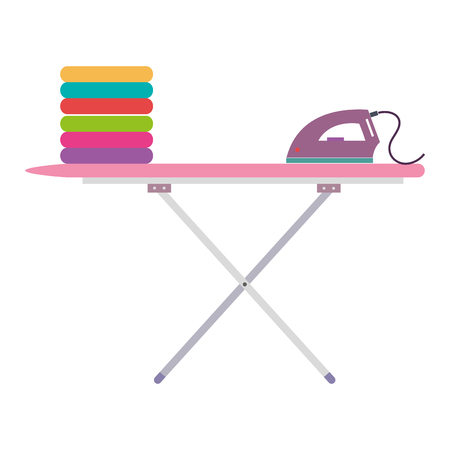 ironing board laundry service vector illustration design Vectores