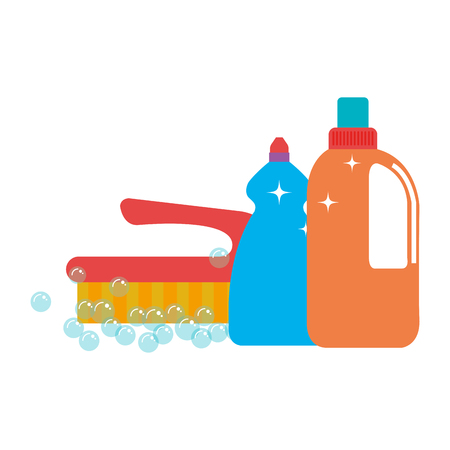 laundry and housekeeping products vector illustration design Çizim