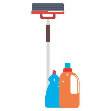laundry and housekeeping products vector illustration design 向量圖像