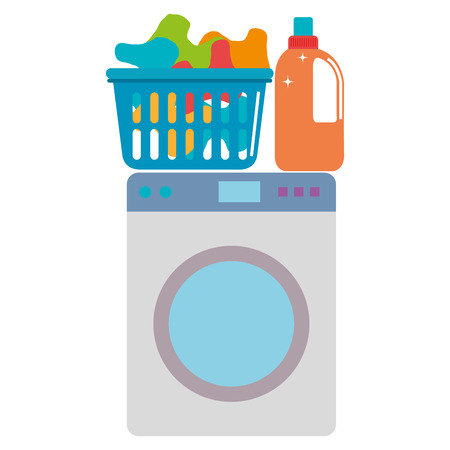 wash machine laundry service vector illustration design Vectores