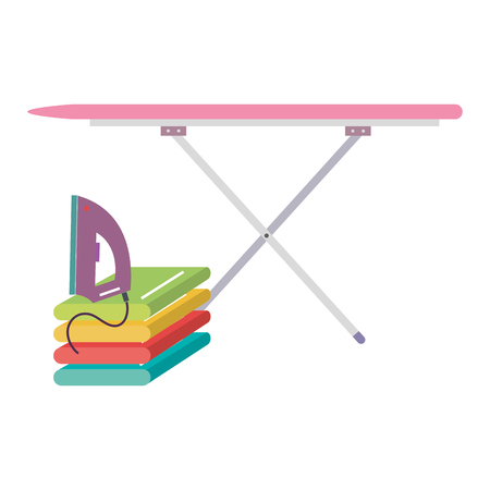 ironing board laundry service vector illustration design  イラスト・ベクター素材