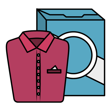 shirts and clothes laundry service vector illustration design