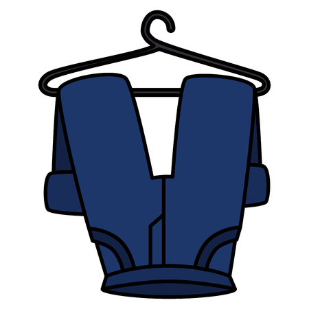 pants drying on wire vector illustration design