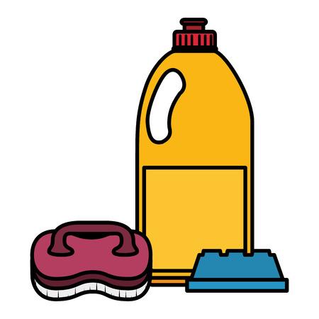 laundry and housekeeping products vector illustration design Illusztráció