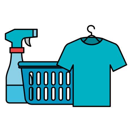 laundry service basket equipment vector illustration design Vectores