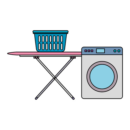 wash machine laundry service vector illustration design Vectores