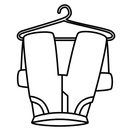 pants drying on wire vector illustration design Reklamní fotografie - 104046536