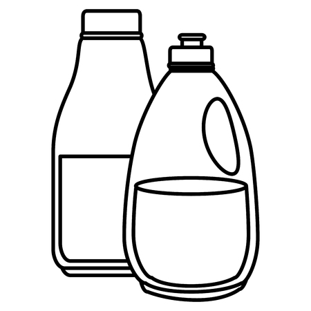 laundry and housekeeping products vector illustration design Illustration